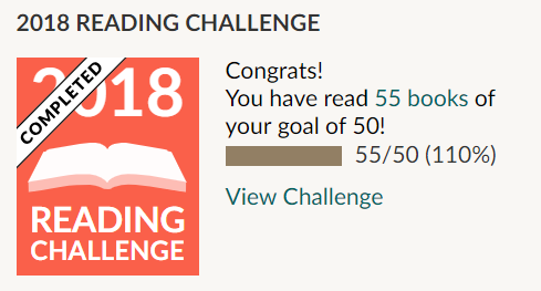 goodreads goal 55 of 50