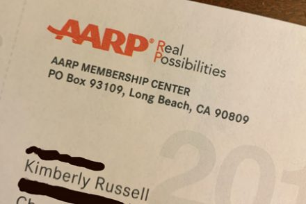AARP solicitation letter