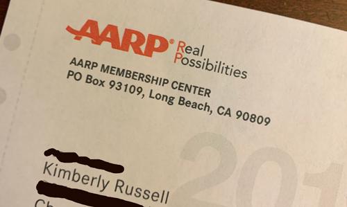 AARP solicitation letter