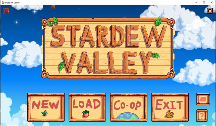 stardew valley opening screen