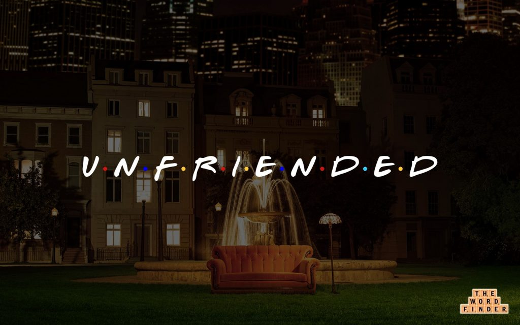 unfriended, in the Friends television show font