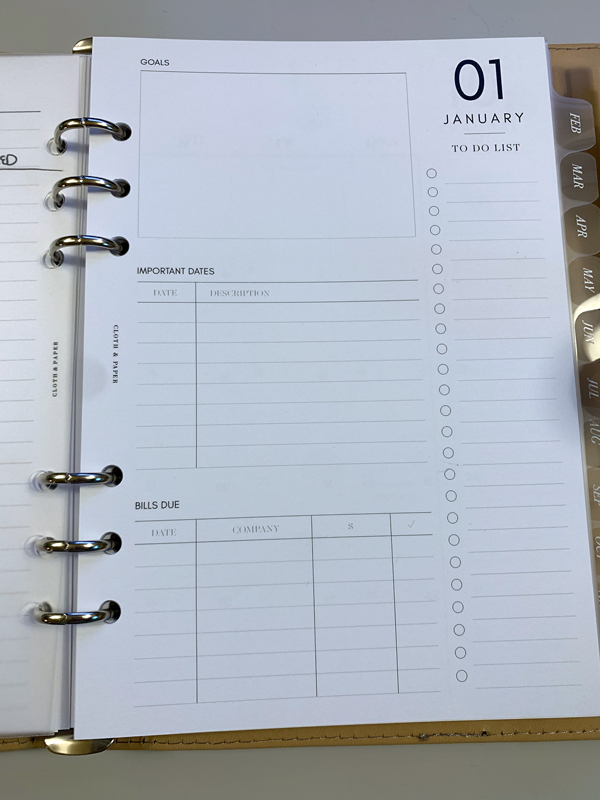 month page - january 2021