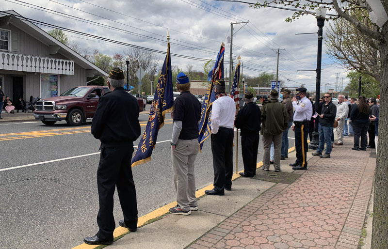 The VFW lined up along the White Horse Pike
