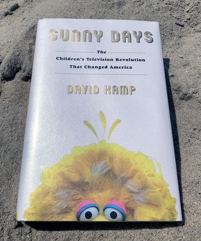 Sunny Days book on a sandy beach.