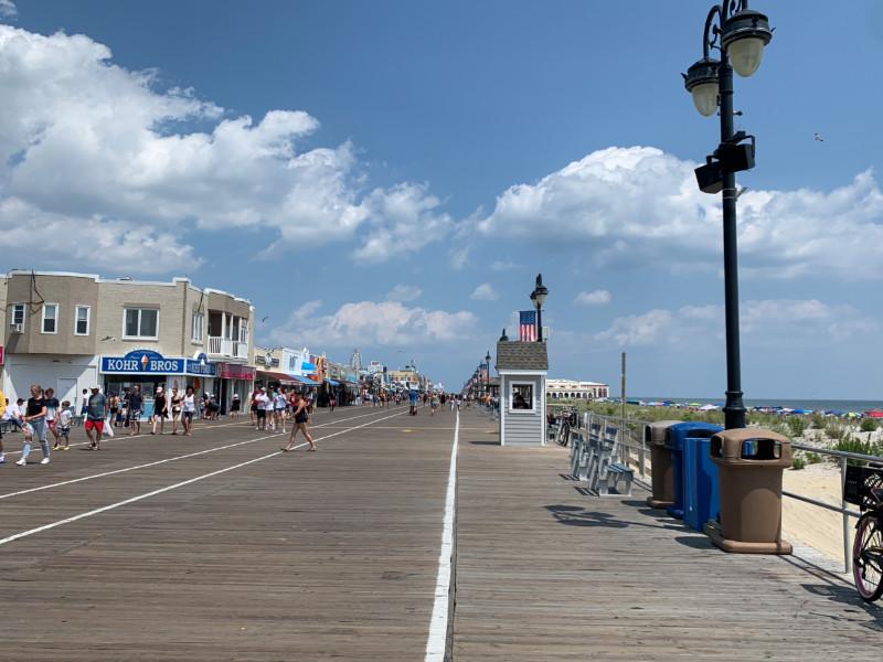 the Ocean City, NJ boardwalk