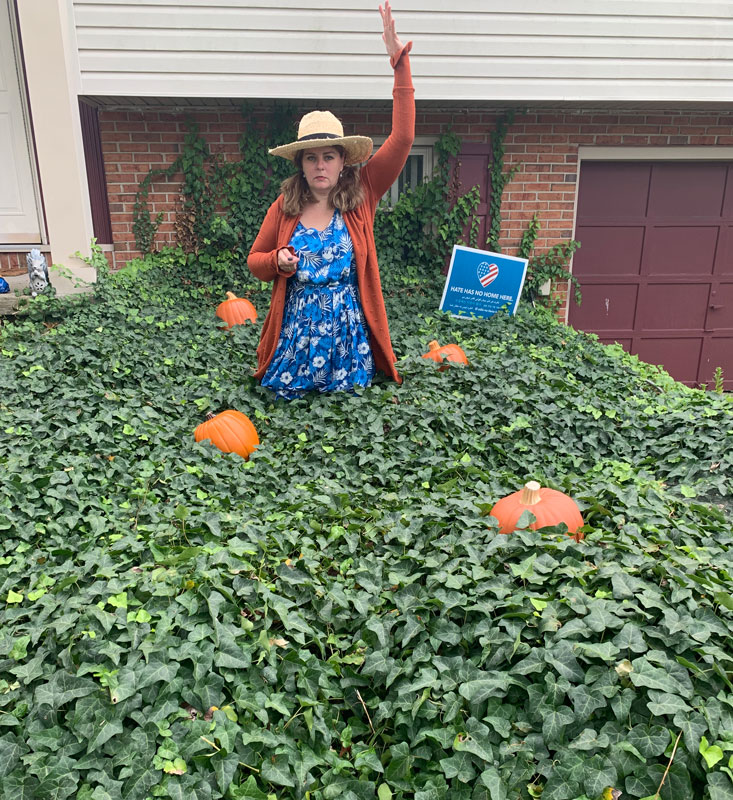 kim in ivy patch, taking care of business